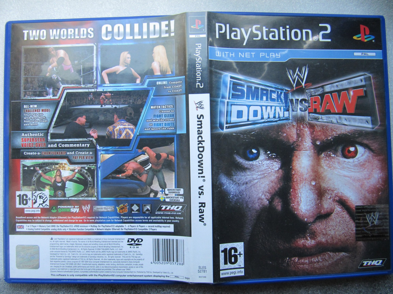 Playstation 2  Smackdown vs RAW