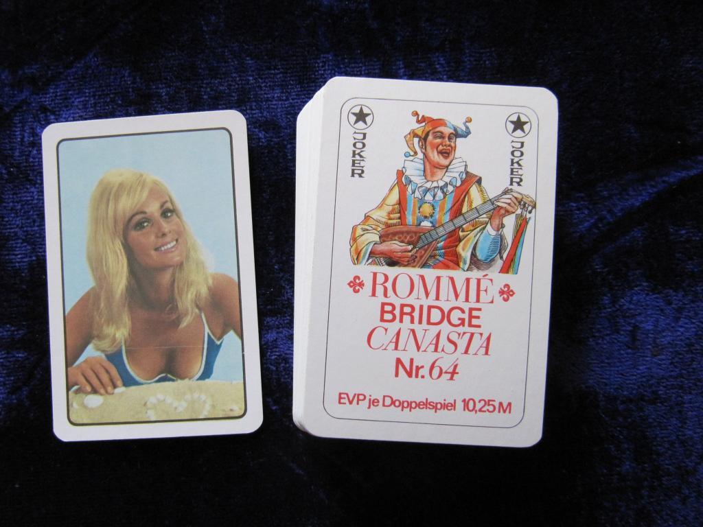 Карты игральные  Romme Bridge Canasta № 64