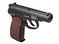 Пистолет Gletcher PM, пневматика, баллон с CO2 (12г), 0,7кг, 169мм, гладкий ствол, шарики 4,5мм, США