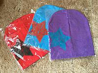 Детская осенняя шапка со звездой р.1-3года