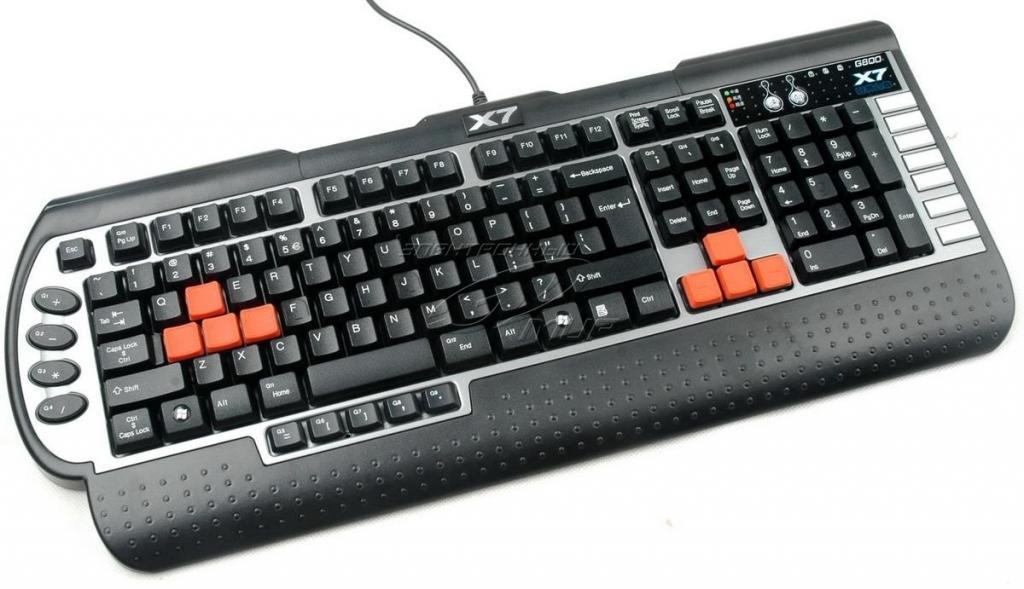 Клавиатура A4Tech X7-G800MU PS/2 Black