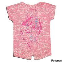 Детская футболка для девочки ПЕРЬЯ