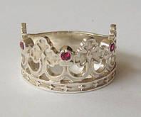 "Кольцо ""Корона"" 20501Г, серебро 925 проба, кубический цирконий."