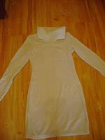 Весенне-осеннее  платье-туника цвета  молока.