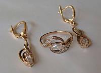 Набор К00582М/С00191М, золото 585 проба, кубический цирконий.