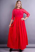 Анабель. Нарядные платья больших размеров. Красный., фото 1