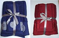 Банное Махровое полотенце Дамаск 50х90 см и 70х140, 550 г/м2