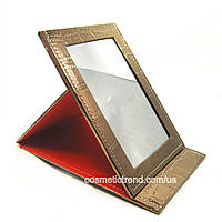 Зеркало косметическое настольное раскладное (дорожное) T5209 bronze