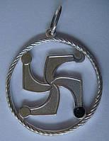 "Подвес-оберег ""Символ рода"" 6088Г, серебро 925 проба."