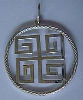 """Подвес-оберег """"Духовная свастика"""" 6081Г, серебро 925 проба."""