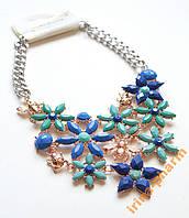 Красивое модное колье (AL-10577 Голубой)