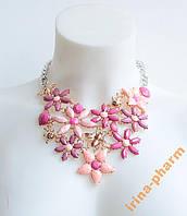 Красивое модное колье (AL-10577 Розовый)