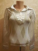 """Атласная рубашка """"с жилеткой"""""""
