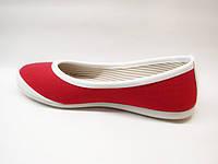 Т538- Мокасины красные женские