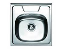 Кухонная мойка Platinum из нержавейки, накладная полированная 50х50
