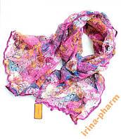 Стильный зимний шарфик V2327 Фиолетовый