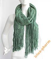 Женский вязаный шарф 2113 Зеленый