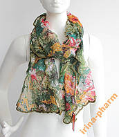 Стильный зимний шарфик V2327 Зеленый