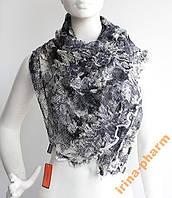 Стильный зимний шарфик V2327 Черно-белый