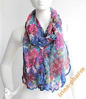 Стильный зимний шарфик V2327 Синий