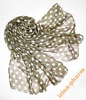 Стильный летний шарф 359 Бежевый