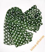 Стильный летний шарф 359 Зеленый