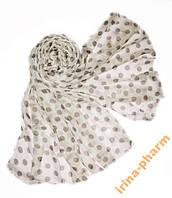 Стильный летний шарф 359 Молочный
