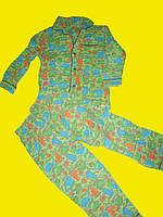 Байковая пижама с дракошами,рост 116 см