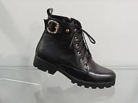 Ботиночки женские на шнуровке кожаные