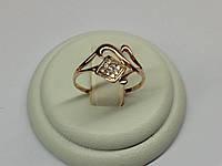 Облегченное золотое колечко 585* с мелкими Фианитами