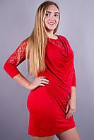 Ангела. Платья супер батал. Красный., фото 1