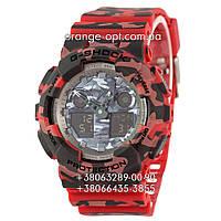 Часы Casio G-Shock GA-100 red/militari Класс-AAA