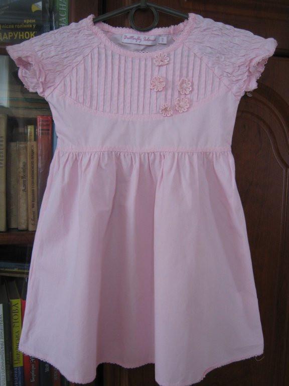 Нарядне ,натуральне плаття на 2-4 роки