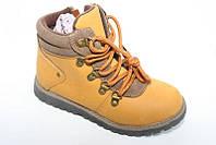 Стильные осенние ботинки для девочек коричневые на шнуровке. В остатке 36,37р.