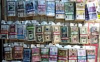 Сувенирные доллары евро гривни