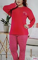 Женская пижама большого размера №9205 интерлок