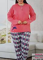 Женская пижама большого размера №9288 интерлок