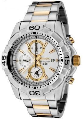 Мужские часы SEIKO SNAE27P1 старая цена позолота