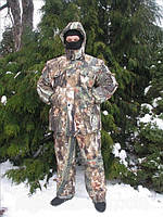 Зимний костюм для охоты и рыбалки  Лес теплый водоотталкивающий