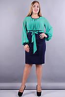 Кито. Платья больших размеров. Бирюза., фото 1