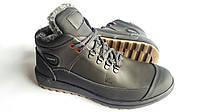 Мужские зимние кожаные ботинки Ecco Yak black