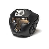 Боксерский шлем - максимальная защита ушей Junior Black Leone черный