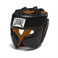 Боксерский шлем с дополнительной защитой скул Performance Leone черный