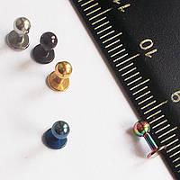 Серьги для пирсинга уха (трагуса, козелка, хеликса). Набор пять цветов. Медицинская сталь.