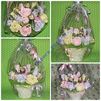 Подарок корзинка конфет (сладкий сувенир)