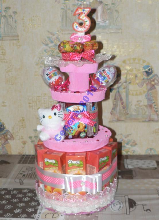 """Подарок для детей """"торт Барни"""""""