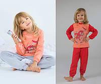 Пижама детская утепленная для девочки (р.92-122)