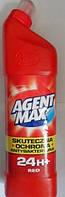 Средство для чистки унитаза Agent Max red антибактериальное