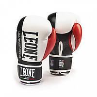 Кожаные боксерские перчатки 14 oz Contender Leone белый