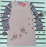 Красивая детская трикотажная ночная сорочка для девочки рост 128